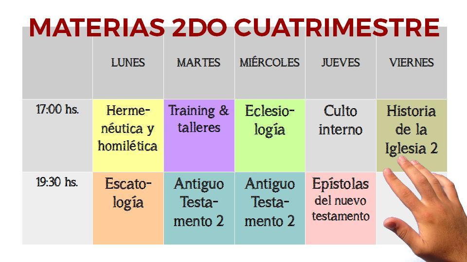 PresentacionMaterias2016Cuatrimestre2